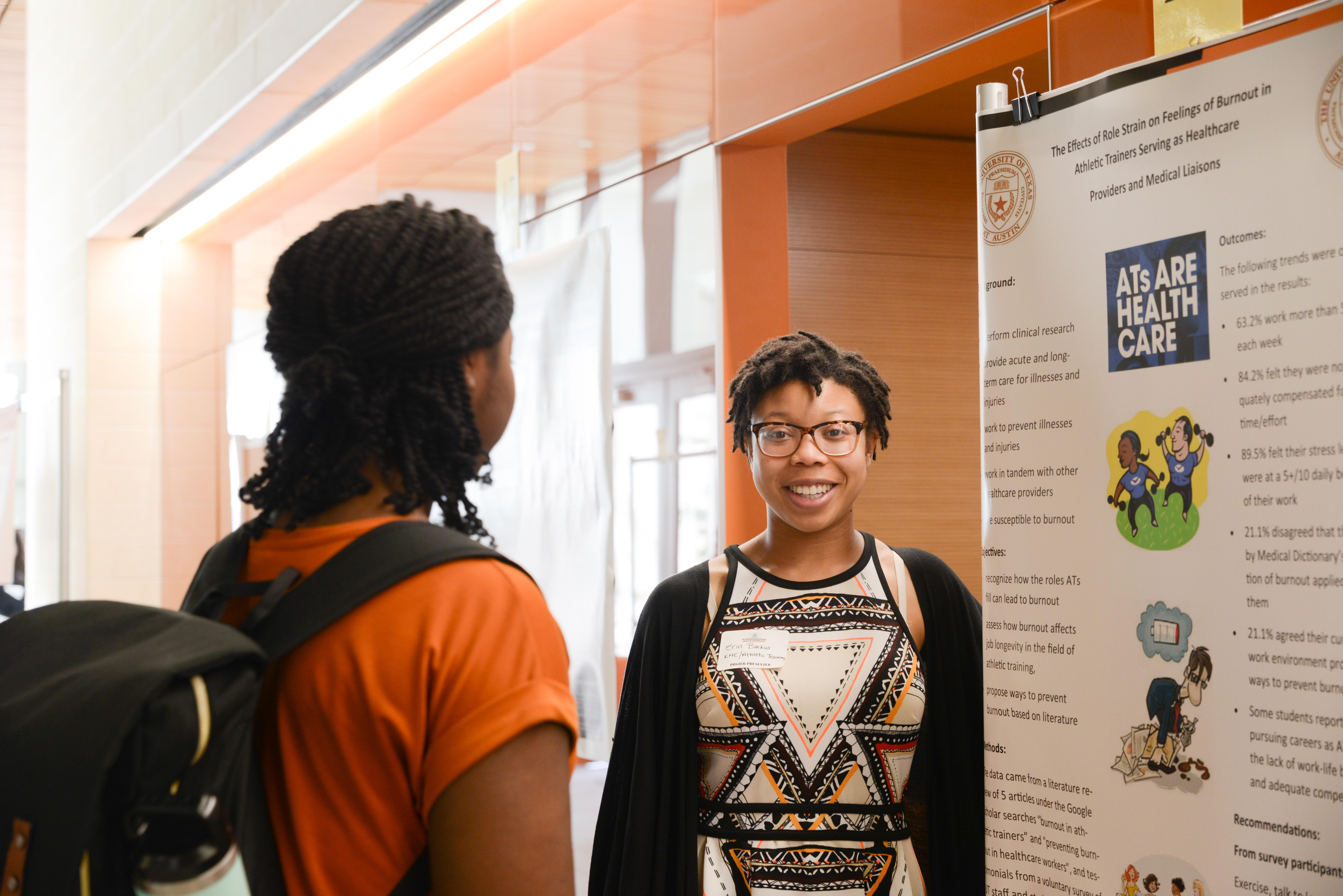 Student at poster presentation